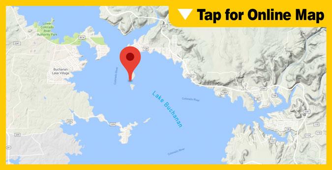 Lake Buchanan HOTSPOT: Shaw & Garrett Islands