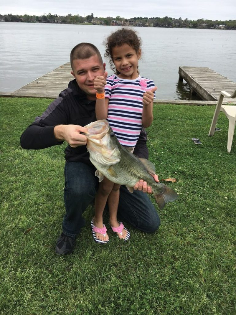 Six-year-old Ava Foreman caught her first fish on Lake Conroe. She was throwing a topwater off a boat dock and the rod bent so far that her dad, CJ, thought she had hooked the dock. To his surprise, she had caught a 22-inch, 4.5-pound largemouth.