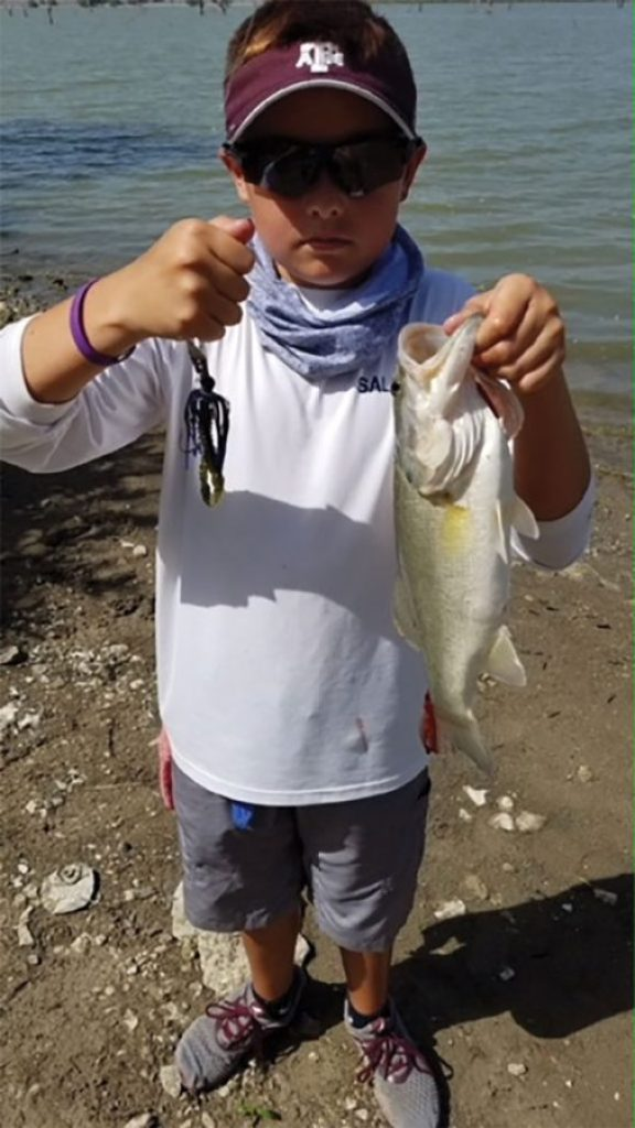 Jayden Potter caught this bass while fishing on Lake Lavon.
