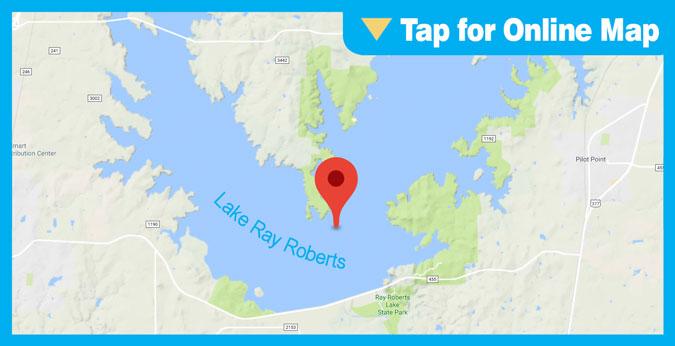 Lake Ray Roberts HOTSPOT: Main Lake Point