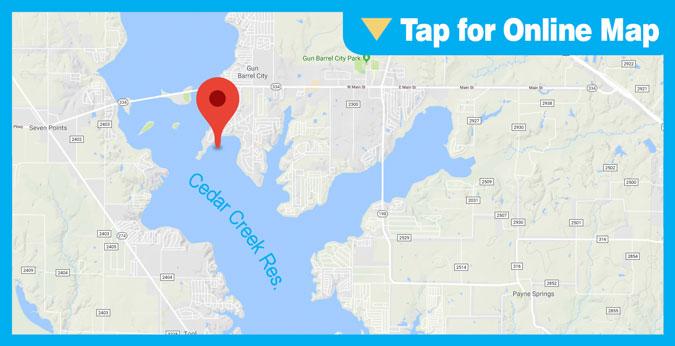 Cedar Creek Lake HOTSPOT: Main Lake