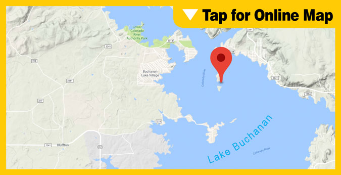 Lake Buchanan HOTSPOT: Paradise Point and Garrett Island