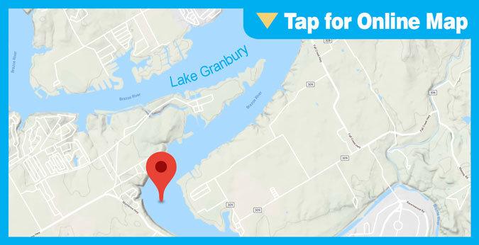 Lake Granbury HOTSPOT: Deep water ledge on the lower ends