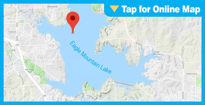 Eagle Mountain Lake HOTSPOT: South of Pelican Island