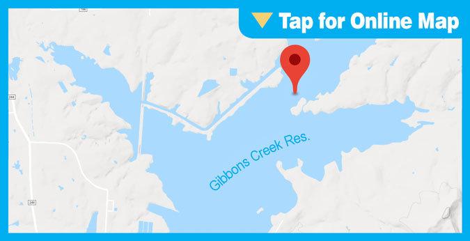 Gibbons Creek Reservoir HOTSPOT: North Eagle Point