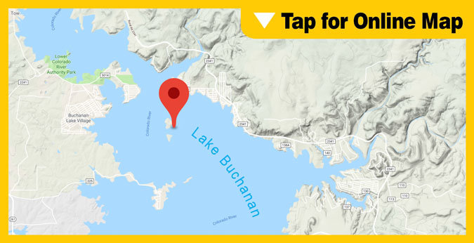 Lake Buchanan HOTSPOT: Shaw and Garret Island