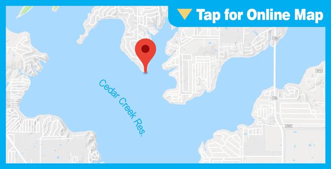 Cedar Creek Lake: Main Lake Docks