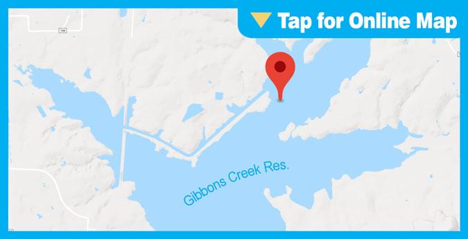 Gibbons Creek Reservoir: Hot Water Discharge Area