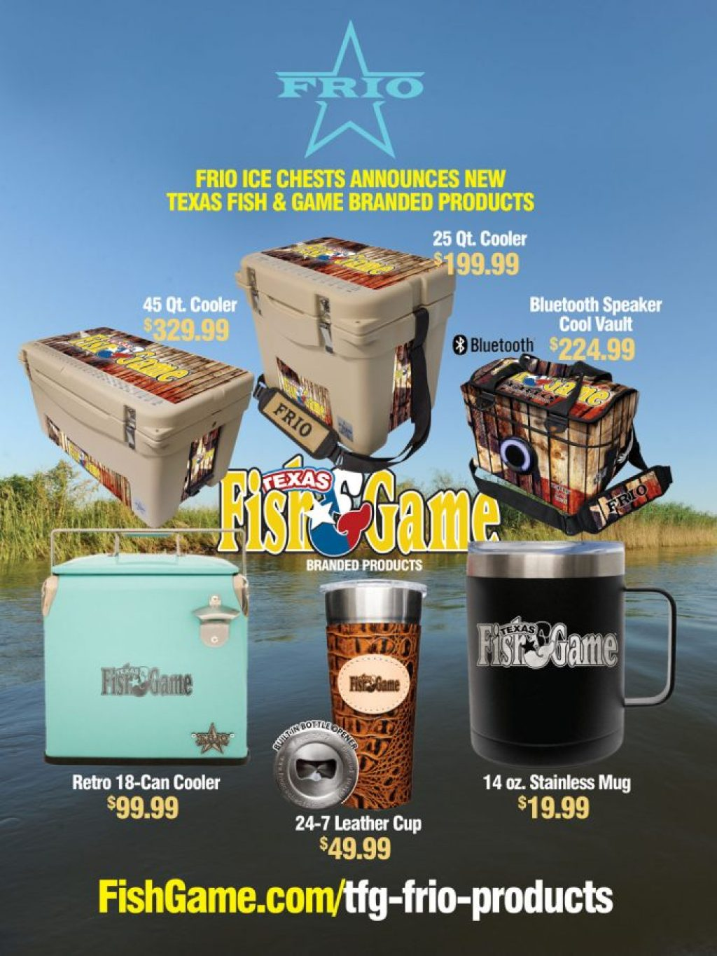 Texas Fish & Game Frio Products