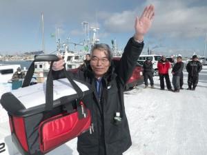 第7回アングル探見丸マス釣り大会 船用バッグ