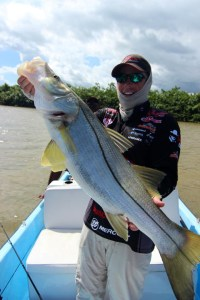 Huge snook caught off the coast of Belize