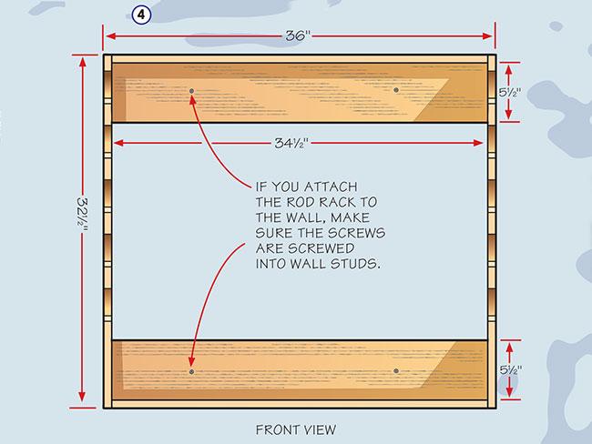 build a homemade fishing rod rack fishing by boys\u0027 life horizontal fishing rod rack plans pallet wood fishing rod holder bp