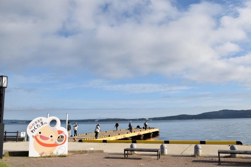石川・七尾湾/加賀屋前の釣り場