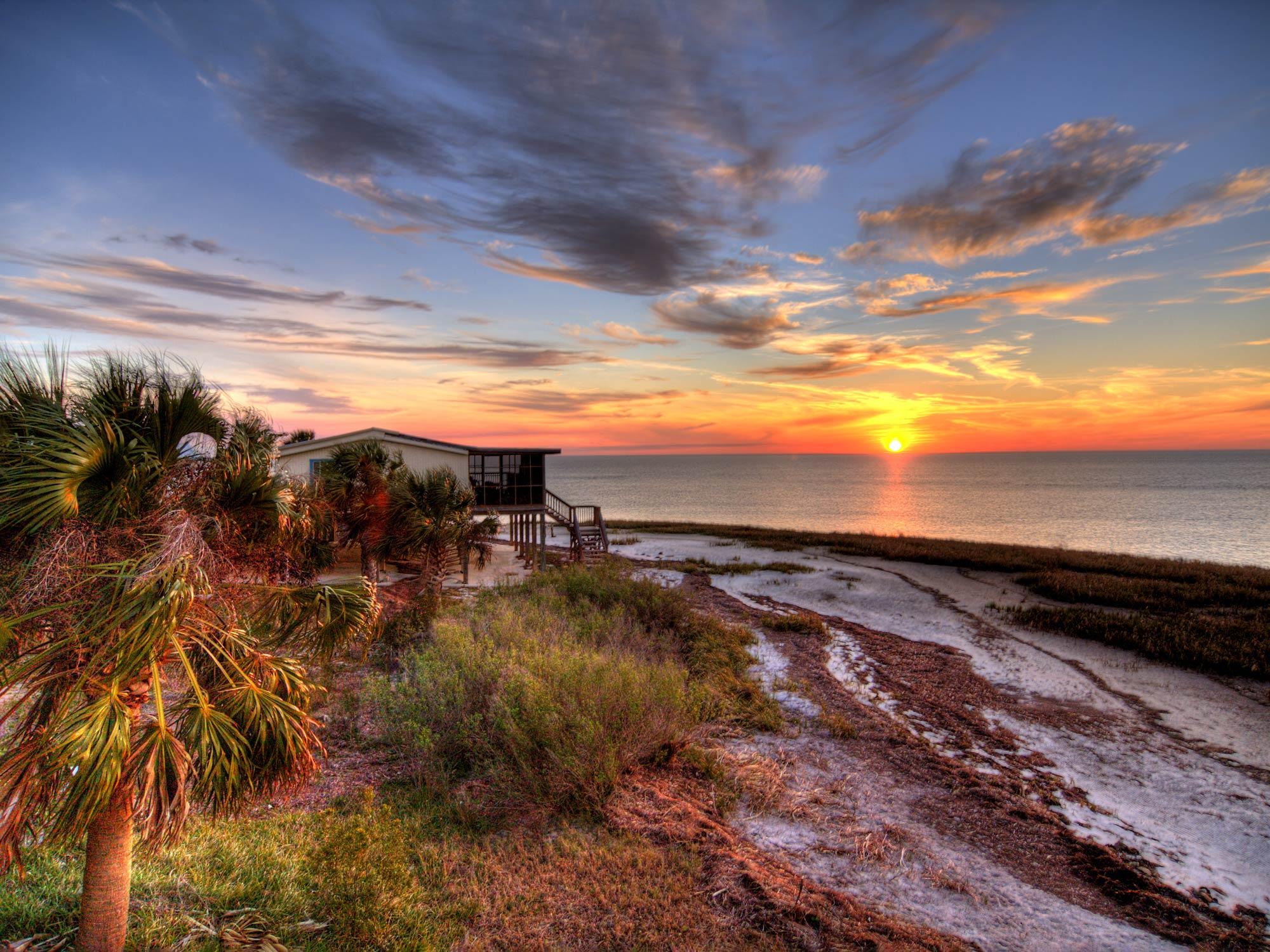 A coastal florida home overlooking the Gulf