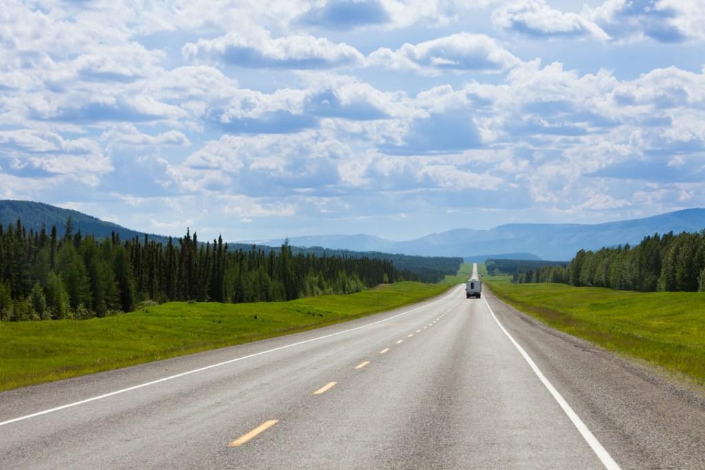 Alaska Highway South of Fort Nelson