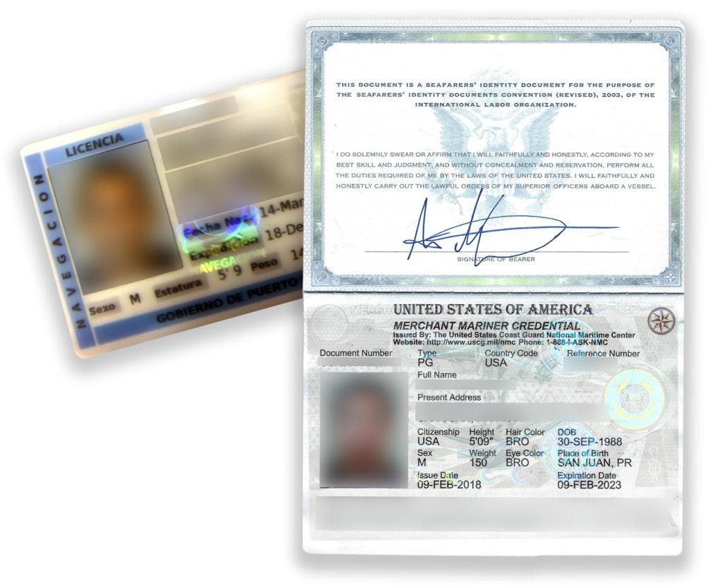 Captains licenses copy
