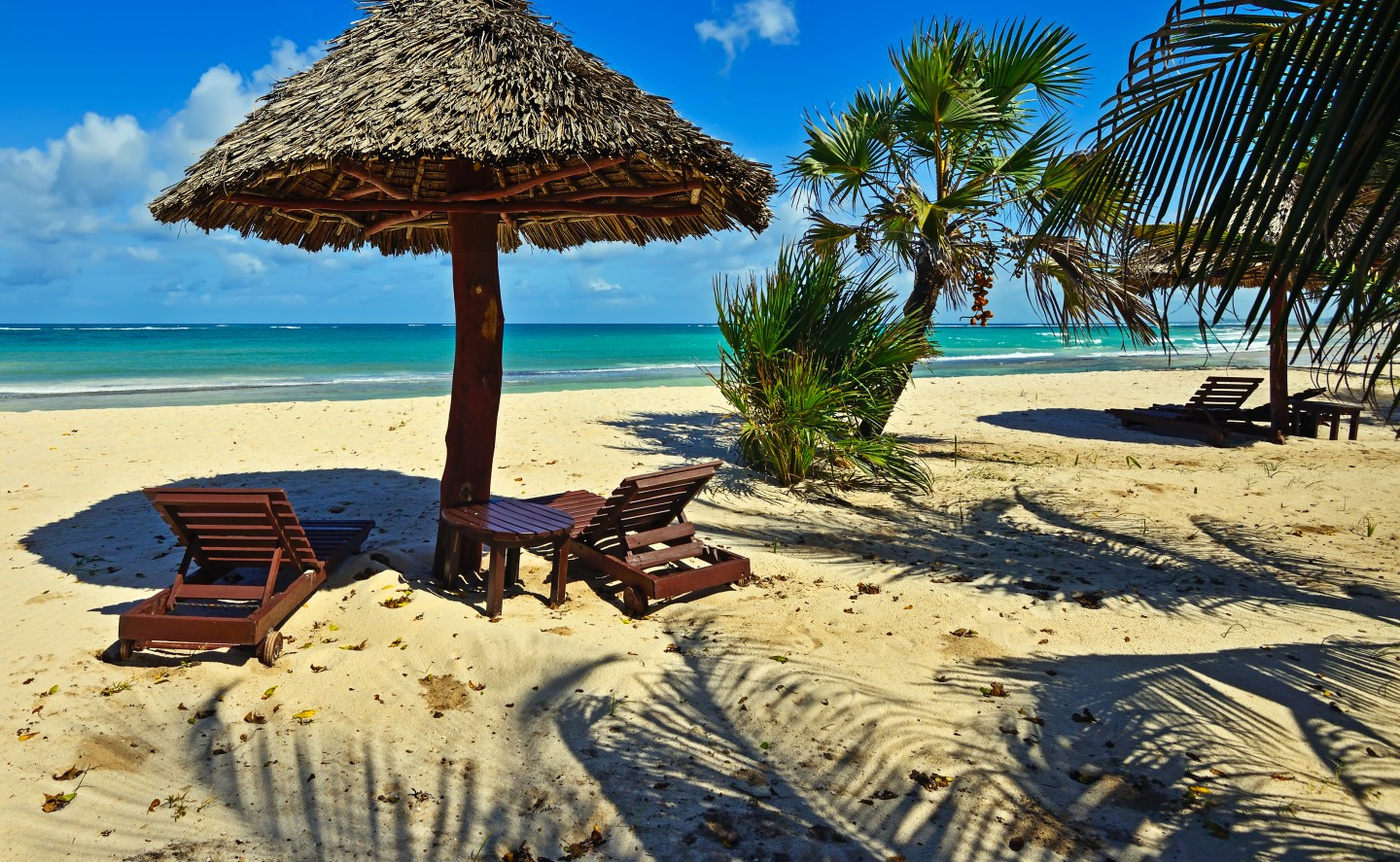 a view of the Indian Ocean from Diani beach in Kenya