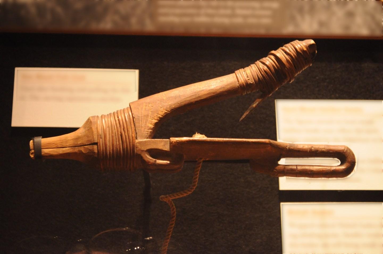 a wooden Halibut hook