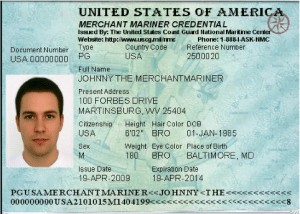 a captain's fishing license – the merchant mariner credential