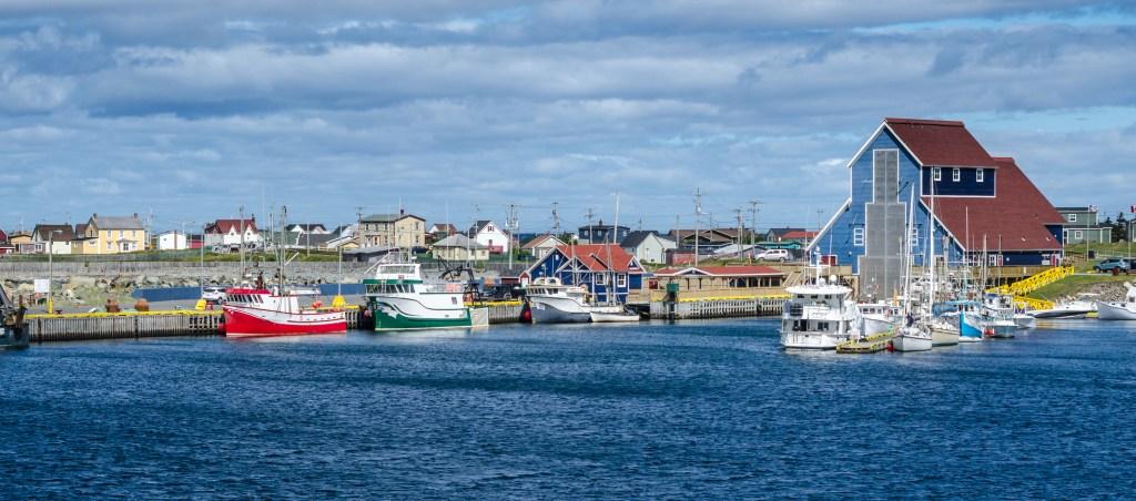 Fishing docks in  in Bonavista, Newfoundland