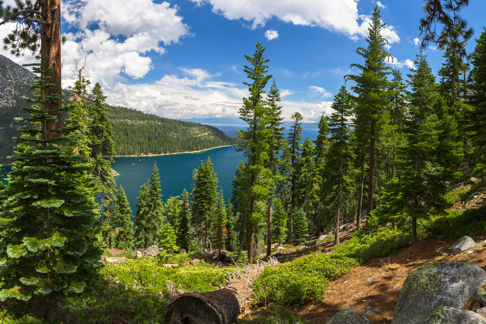 A view of Emerald Bay on Lake Tahoe