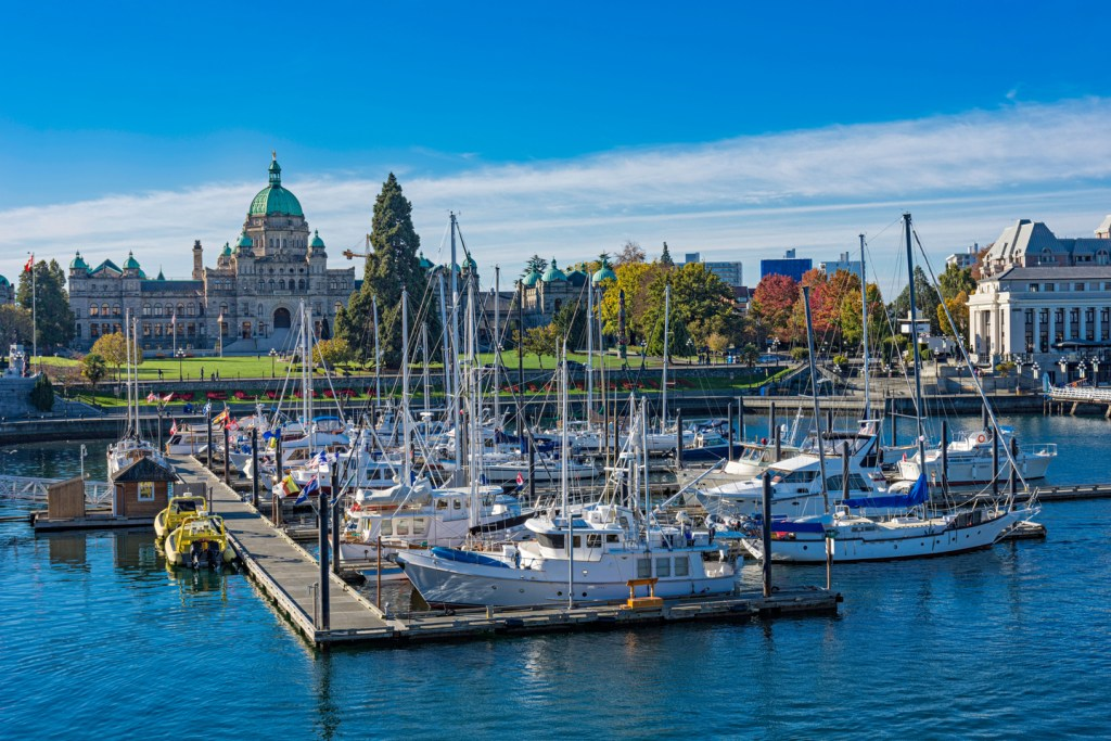 Victoria Harbor with the British Columbia Parliament Building in the background