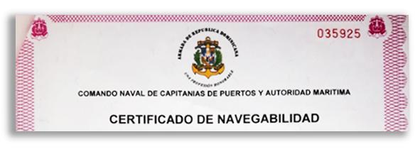 certificado de navigabilidad