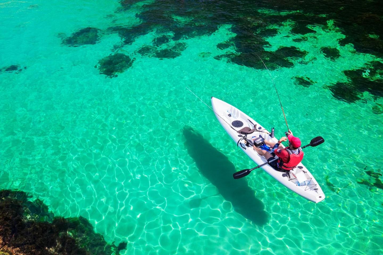 a fishing kayak
