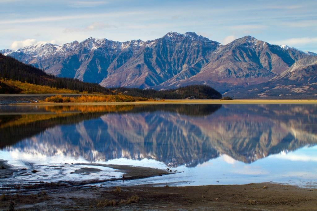 Kluane Lake in Kluane National Park and Reserve