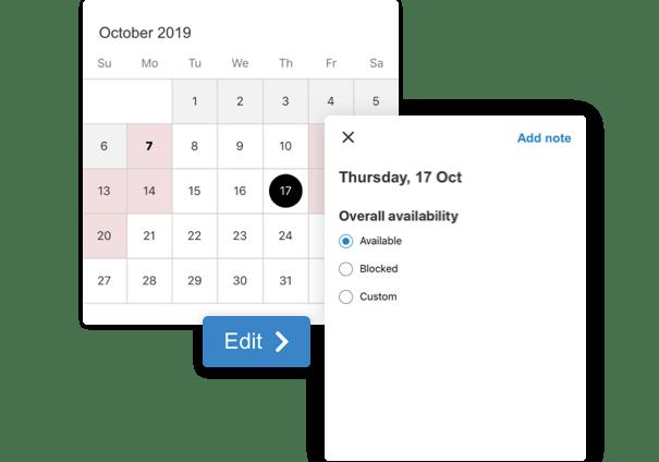 FishingBooker calendar
