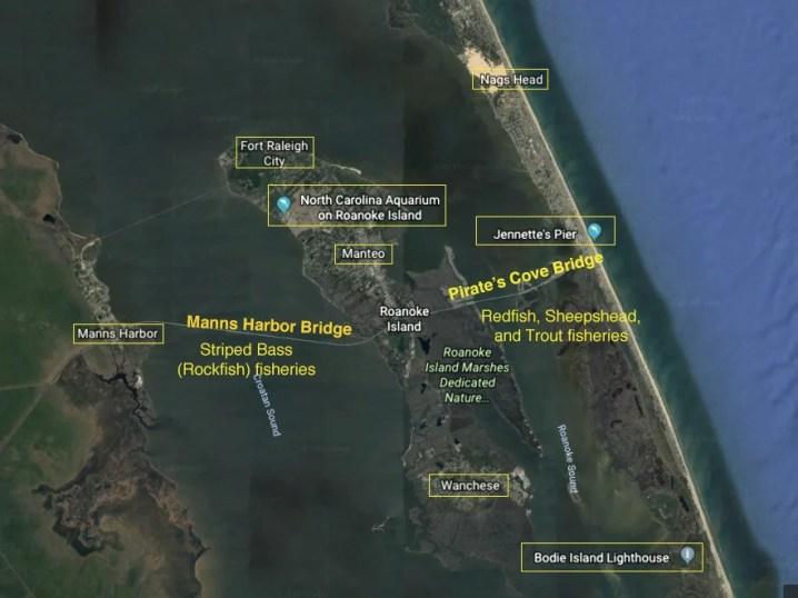 roanoke sound fishing map