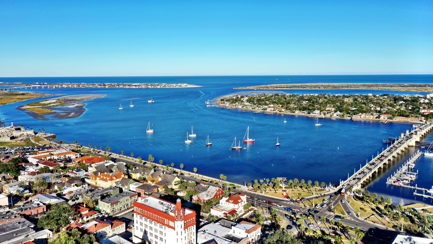 an areal view of St Augustine
