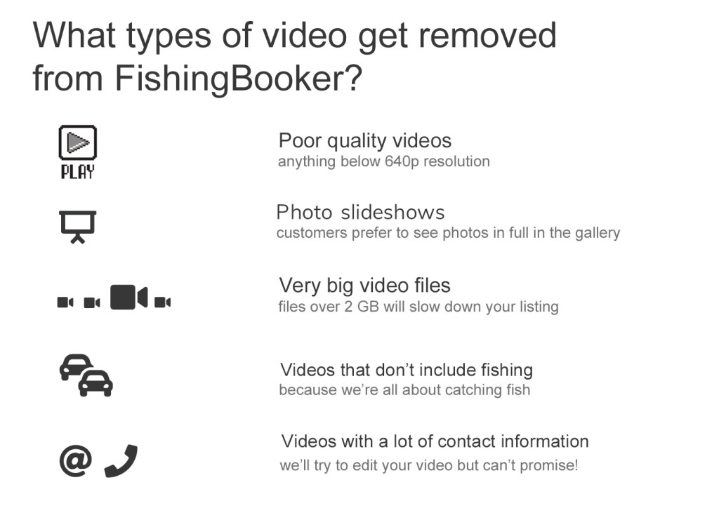 Infographic explaining the types of videos that get removed
