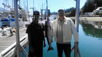 Fishing Tofino 2015 - On The Dock Weighing The Fish with Rick Biggar