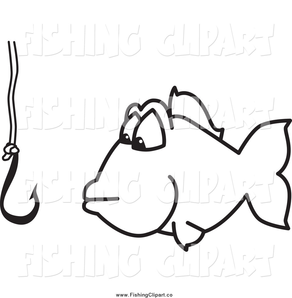 Royalty Free Black And White Stock Fishing Designs