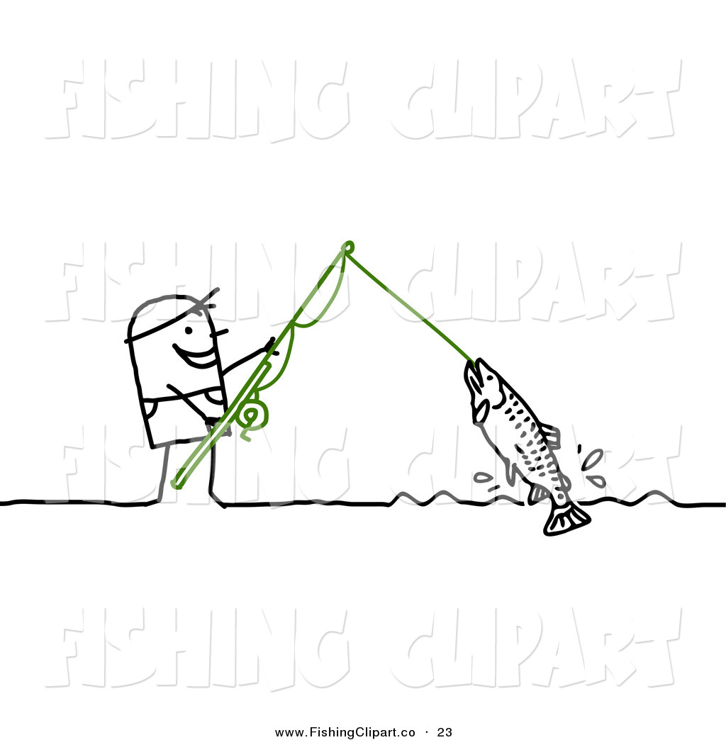 Royalty Free Stock Fishing Designs Of Stick Figures