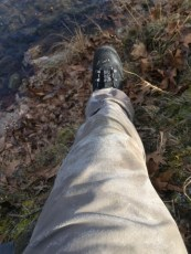 You know it's cold out when your waders start to freeze while you're wearing them.