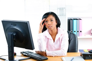 grouchy receptionist