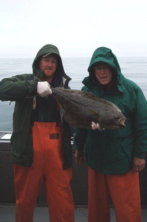 Dad doing a halibut impression.