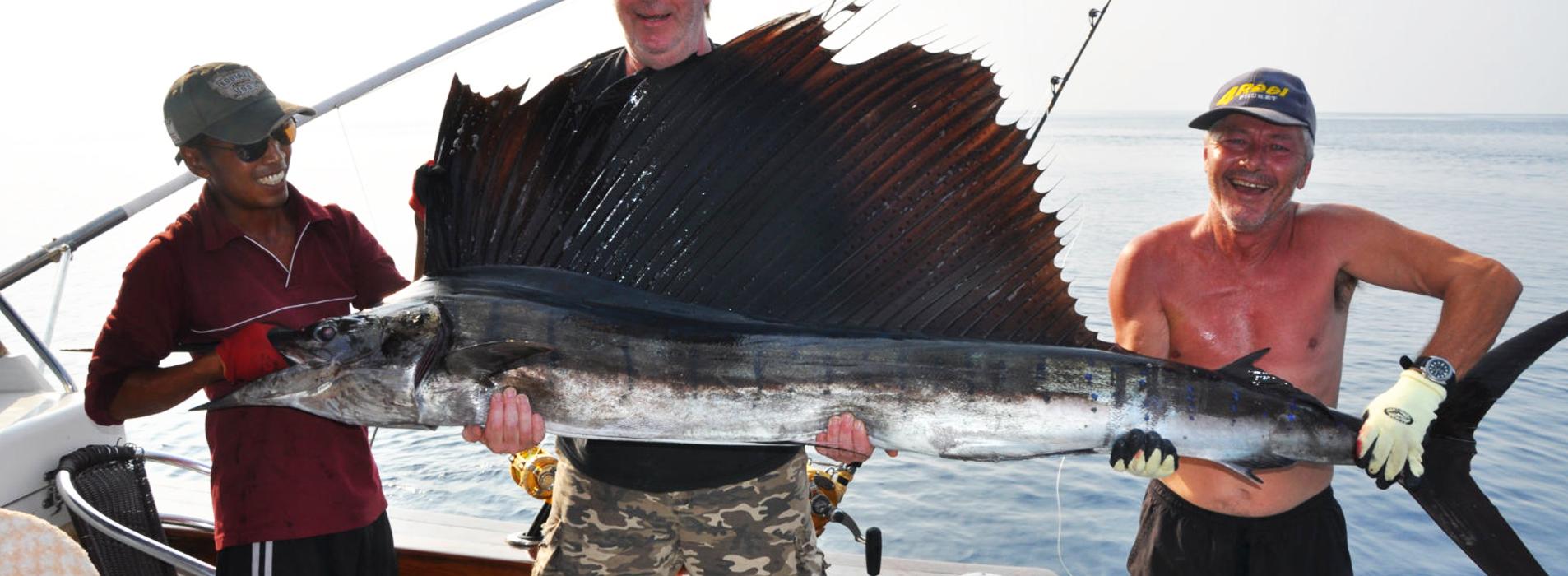 Sailfish caught in waters off Phuket