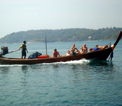Longtail boat fishing Phuket