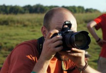 Michael shooting in Kasanka National Park