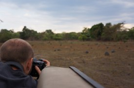 Michael shooting from the Cruiser during the game drive