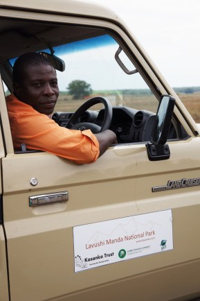 Our driver during the game drive in Kasanka National Park