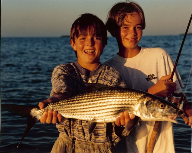 Capt. Nick and Rick Stanczyk with one of many bonefish!