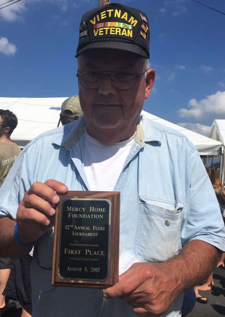 Jack McLaughlin took first place in Barnegat Light's 14th Annual Mercy Home Foundation fluke tournament.