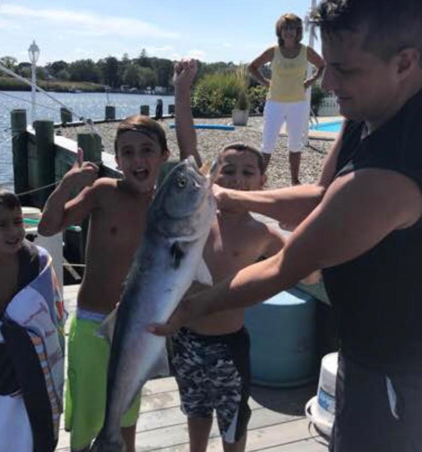 Kids lot fishing and they enjoy drag pulling bluefish.