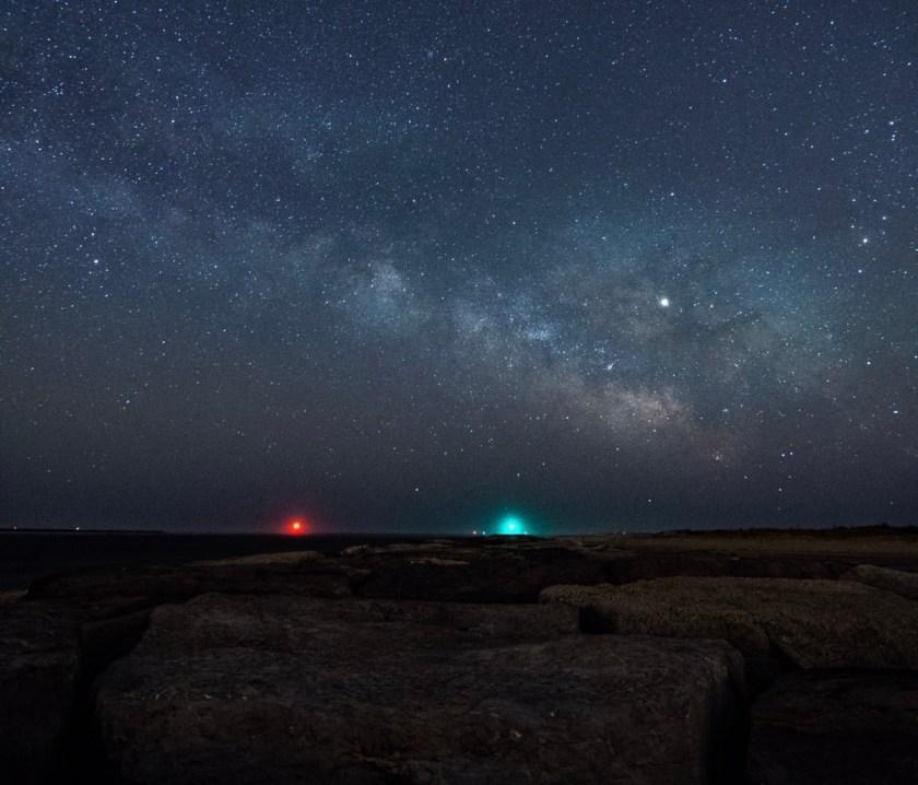 Milky Way photo from early Sunday April 7th 2am Barnegat Light Jetty by Greg Cudnik
