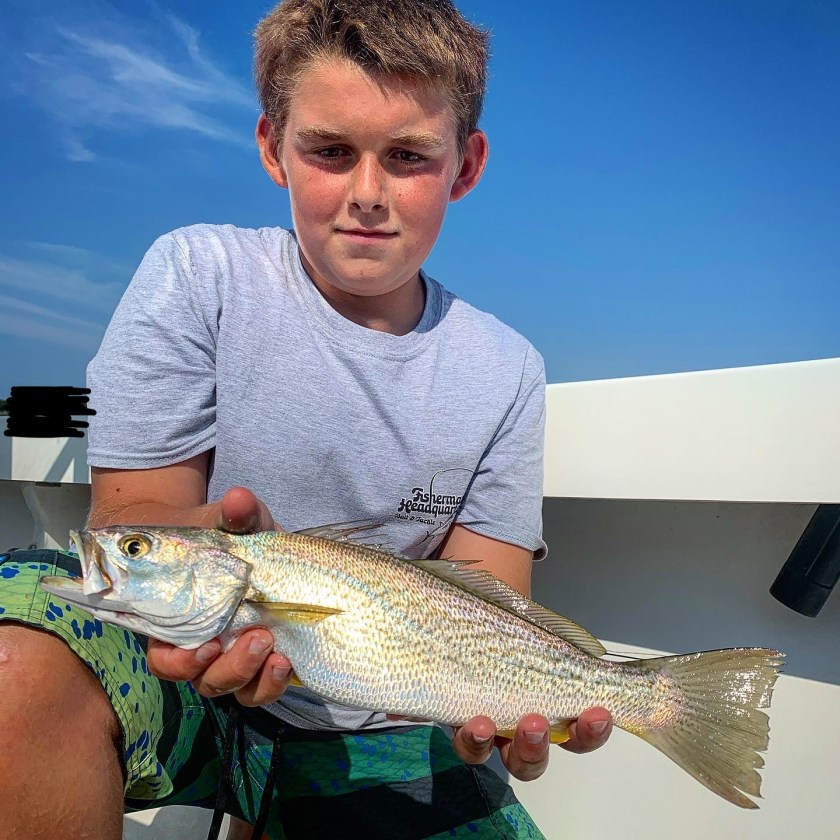 Here's youth angler Danny V with his first weakfish on the fly.