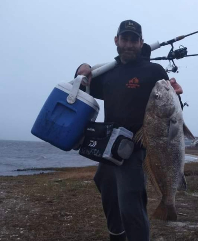On Sunday Bobby Capri caught a handful of striped bass and a black drum.